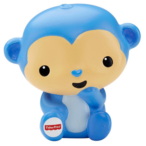 Zvířátko do vany Mattel Modrá opička - koupací postavička