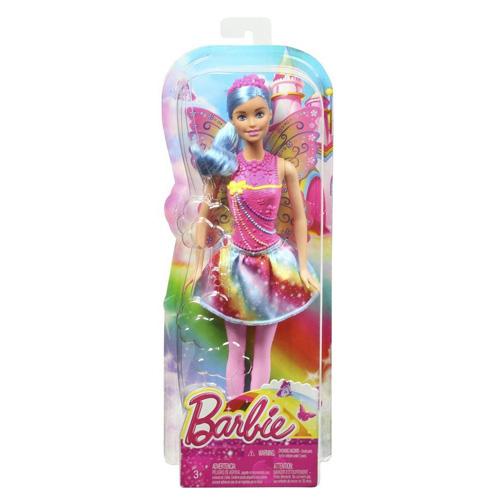 Barbie víla Mattel Modré vlasy