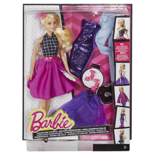 Barbie modelka Mattel 10 kousků oblečení