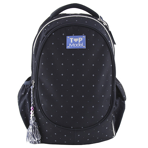 Školní batoh Top Model Indigo + bílé tečky