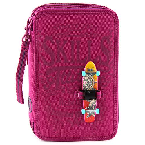 Školní penál 7Skills Růžový - třípatrový penál s výbavou