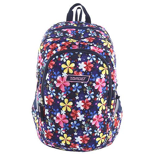Školní batoh Target Fialový s květy