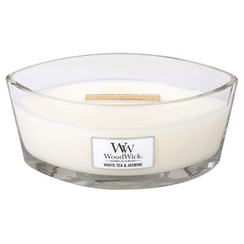 Svíčka dekorativní váza WoodWick Bílý čaj a jasmín, 453,6 g