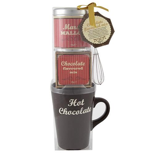 Dárkové sety Dárková sada Hrnek, čokoláda, marshmallow + metlička
