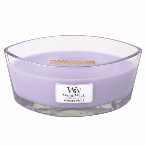 Svíčka dekorativní váza WoodWick Levandule s vanilkou, 453.6 g