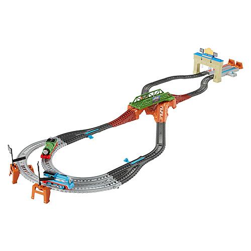 Herní souprava Fisher price Mattel Tomáš a Percy závodní set
