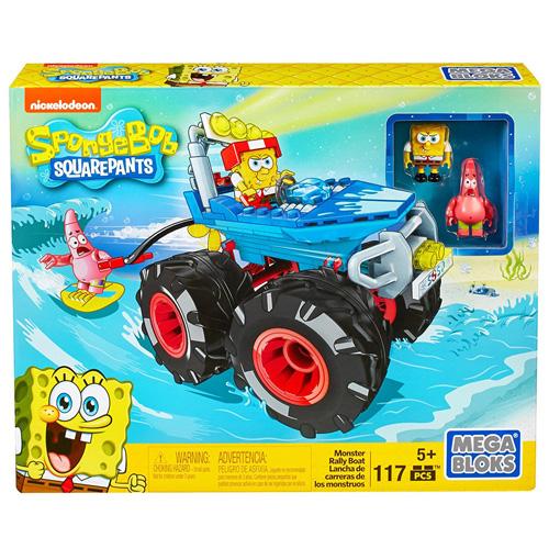 Mega Bloks stavebnice Mattel Sponge Bob Rally boat