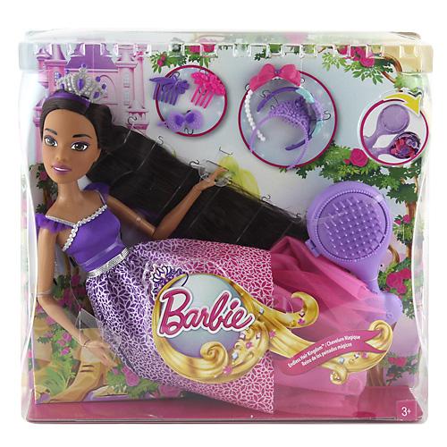 Barbie princezna Mattel Vysoká dlouhovláska brunetka