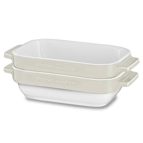 Sada mini pekáčů KitchenAid 2 dílná, keramická, mandlová