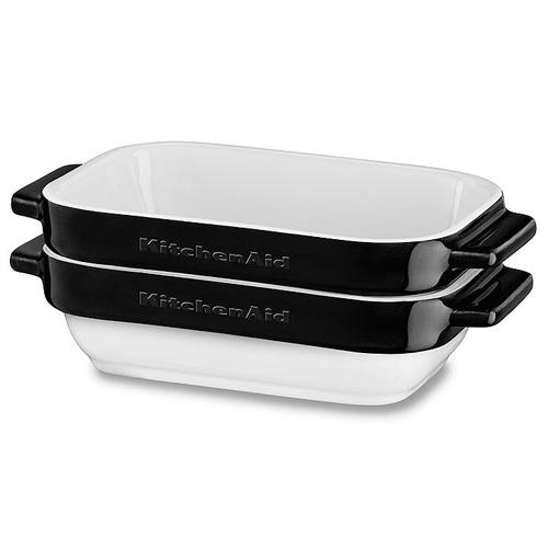 Sada mini pekáčů KitchenAid 2 dílná, keramická, černá