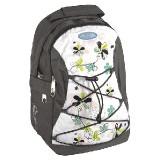 Studentský batoh s něžným květinovým motivem