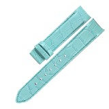 leather strap with alligator-print, with insert