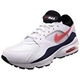 buy popular 46986 0264e Shop now · Nike Air Max 93, Chaussures de Gymnastique Homme, Blanc (White Habanero  Red