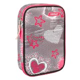 PENCIL CASE MULTY FULL GREY HEARTS 26264