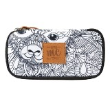 PENCIL CASE COMPACT COLLEGE LIKE ME WHITE 26339
