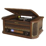 WOODEN  HI-FI SYS WITH  AUTOSTOP TT, CD-MP3, ANALOG AM-FM RA